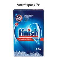 Finish Spezialsalz 1,2 kg 7er Pack Spülmaschinensalz Kalkschutz Geschirrspülsalz