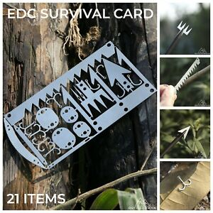 Bushcraft, Wilderness, Survival Card EDC Multitool