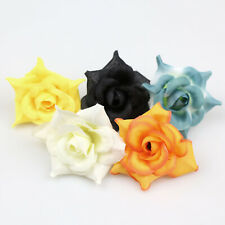 "100X 2"" Silk Artificial Rose Flower Head for Wedding Decor DIY Wreath Accessorie"