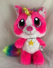 "Fiesta Rainbow Mystic Puppycorn 11.5"" Unicorn Plush Dog Pink Stuffed Animal"