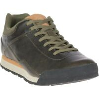 Merrell Burnt Rocked Leather Men's Shoe J97277 Dusty Olive NEW