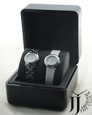 NEW MARC BY MARC JACOBS 2 WATCH SET LEATHER & STAINLESS STEEL  WATCH MBM9038