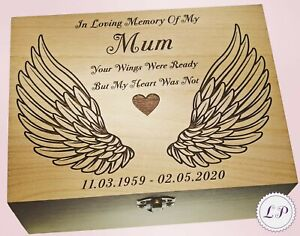 Mum Dad Son Nan Adult Ashes Urn Angel Wings Cremation Ashes Memorial Keepsake