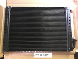 Condenser Universal O'ring Parallel Flow 23'' x 12' x 3/4'' Black Finish