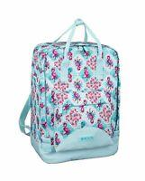 Girls Backpack Flamingo Rucksack Travel Work Holiday School Bag MOOS Turquoise