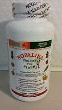 NOPALINA FLAX SEED PLUS FIBER 120 CAPSULES -  WITH OMEGA 3,6 AND 9. UNISEX 01/18