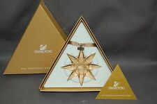 Swarovski 2009 large Scs golden shadow annual snowflake ornament, new in box !
