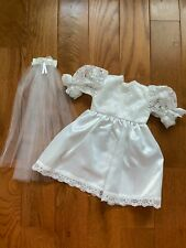 Wedding Dress and Veil for Doll, Fits 18 Inch Doll