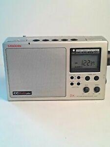 * WORKING Sangean CC Radio Plus DX AM/FM/TV/Weather Band Receiver Silver C Crane