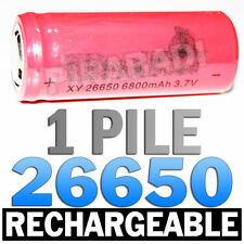 1 PILE ACCU RECHARGEABLE BATTERIE 26650 6800mAh 3.7V Li-ion BATTERY