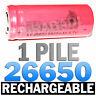 1 BATTERY RECHARGEABLE BATTERY battery 26650 6800mAh 3.7V Li-ion battery