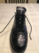 Vintage Wilson Black Leather Baseball Cleat Size9.5 Single Shoe Right Foot