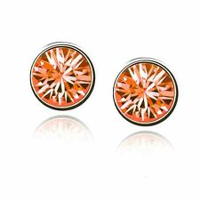 Donna Ragazze Orecchini A Perno Cristallo piccoli gioielli Fire Orange 9 opzioni colore