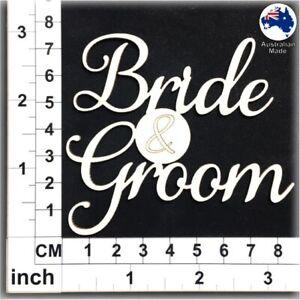 Chipboard Words for Scrapbooking, Cardmaking - Bride & Groom CT115