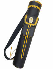 HAND MADE MILD NERI IN PELLE BACK Arrow Quiver Archery Products aq-155.