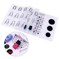 Nail Art Mini Silicone Pad Portable  Mat Practice Template Nail Tools