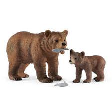 Figura in Plastica SCHLEICH 14685 Orso Grizzly World of Nature-Wild Life