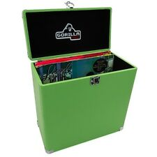 "Gorilla LP-45 Retro Style 12"" Vinyl Record Storage Carry Case (Surf Green)"