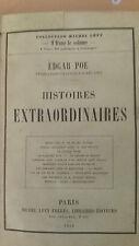 EDGAR POE : HISTOIRES EXTRAORDINAIRES - EDITION ORIGINALE - MICHEL LEVY 1856 BE