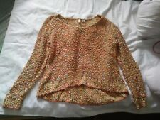 Anthropologie Moth Women's Size Medium Petite Multicolor High Low Knit Sweater
