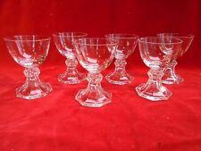 6 Verres en cristal Val Saint Lambert, modèle Yale uni