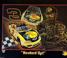 "DALE EARNHARDT SR ORIGINAL SAM BASS POSTER ""HOOKED UP"" BASS PRO 22"" X 28"""