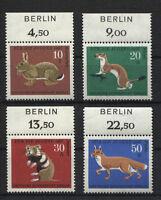 Berlin 299 - 302 postfrisch mit Zudruck Berlin Pelztiere 1967 MNH