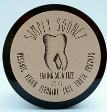 3.5oz BAKING SODA FREE Vegan Organic Fluoride Free Tooth Powder