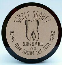 3.5oz BAKING SODA FREE Vegan Organic Fluoride Free Tooth Powder