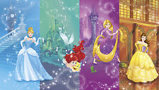 Disney Princess Scenes Wall Mural Belle Cinderella Little Mermaid Wallpaper NEW