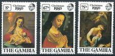 Gambia - Weihnachten Madonnen Satz postfrisch 1980 Mi. 415-417