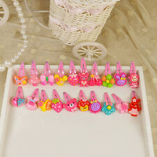 20x Girls Hairpin Mixed Assorted Baby Kid Children Cartoon Hair Pin Clips Lovely