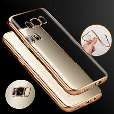 Soft Silicone TPU Gold Bumper Slim Back Case Cover For Samsung Galaxy S8 ON SALE