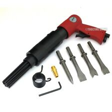 150mm AIR HAMMER DRILL GUN WITH 4 x CHISELS + NEEDLE DESCALER PAINT RUST REMOVER