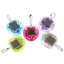 LCD Virtual Digital Pet Electronic Game Machine With Keychain Cute Heart Shape