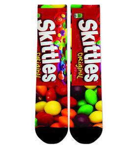 Custom Skittles Rainbow Crew Socks NEW
