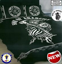 NEW SONS OF ANARCHY BLACK REAPER RARE LICENSED QUILT COVER SET DOUBLE MAN CAVE