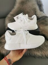 ADIDAS NMD_R1 Triple White ATHLETIC SHOES SIZE WOMENS 6.5 BIG KIDS 5 New AUTHENT