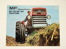 Massey-Ferguson MF 135 & 150 Tractor Color Brochure, 16 pg. original vintage '73