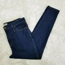 """Madewell Womens Size 33 10"""" High Rise Skinny Jeans in Dark Lucille Wash"""