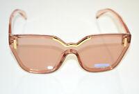OCCHIALI da SOLE donna ROSA CIPRIA ORO lenti aste mascherina gafas de sol BB26
