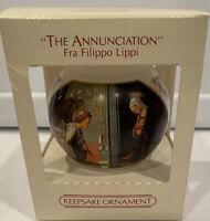Vintage Hallmark Keepsake 1983 The Annunciation Glass Ball Christmas Ornament