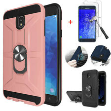 For Samsung Galaxy J7 2018/Crown/Refine/Star Armor Stand Case + Screen Protector