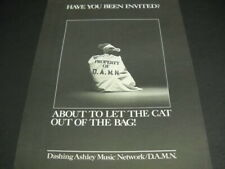Damn Dashing Ashley Music Network original 1979 Promo Poster Ad mint condition