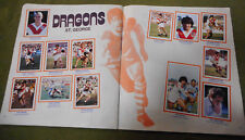 #T90. 1983  ST GEORGE DRAGONS RUGBY LEAGUE STICKERS ON ALBUM PAGES