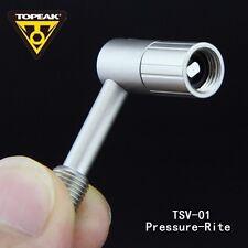 Topeak TSV-01 Pressure-Rite Schrader Valve Adapter For Airspring Fork & Shock