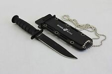 BRAND NEW BLACK USMC USA STYLE NECK KNIFE NEXT MACHETE NECKLACE WITH SHEATH