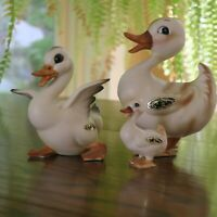JOSEF ORIGINALS Japan Duck Family Ducks Figurines w Label