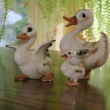Josef Originals Japan Duck Family Ducks Figurines w Label