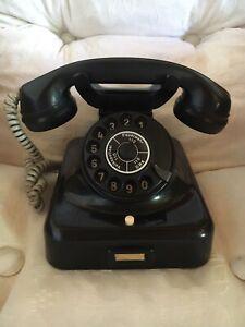 Telefon Bakelit Post Telefon Wählscheibe RFT DDR
